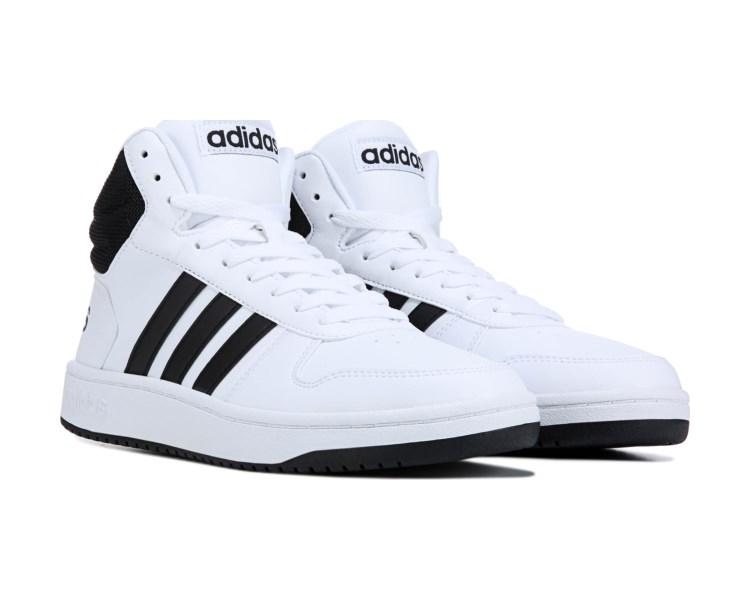 tim goniti labav adidas high tops black white